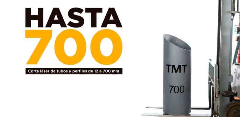 Corte láser tubo hasta 700 mm de díametro